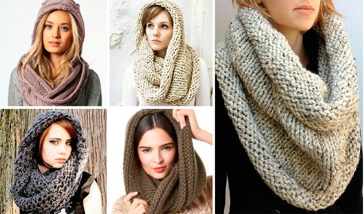 снуд описание вязания шарф снуд схема вязания спицами
